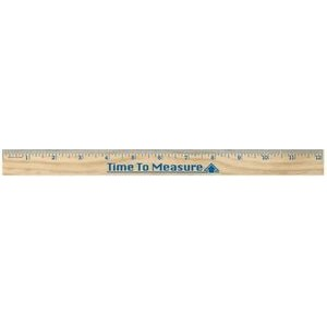 "12"" Natural Wood Ruler"